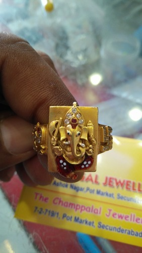 Lord Ganesh Gold Ring at Rs piece Gold Rings