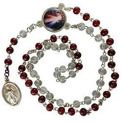 Red & White Chaplet Of Divine Mercy, Size: Free
