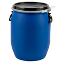 Blue HDPE Open Top Drums