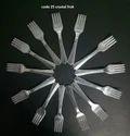 Plastic Silver Fork