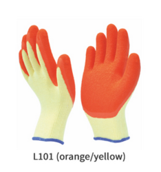 Poly Cotton or Polyester Liner with Crinkled Latex Coating Glove