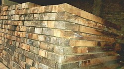 Brown Indian Timber Wood, Thickness: 3-6 Inch