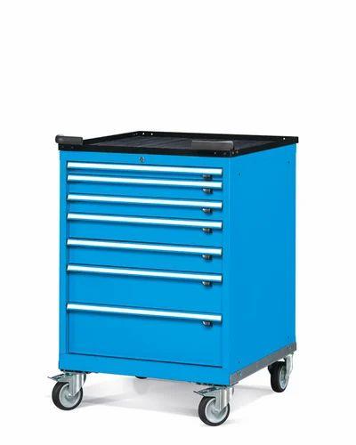 Godrej Blue Mobile Tool Storage Cabinet On Wheels With 7 Drawers  sc 1 st  IndiaMART & Godrej Blue Mobile Tool Storage Cabinet On Wheels With 7 Drawers Rs ...