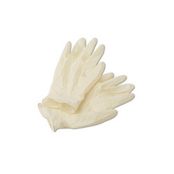 White And Blue Disposable Glove