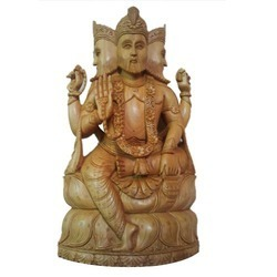 Sandalwood Religious Sculpture
