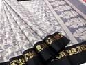 Ladies super net cotton sharee fancy designer