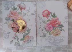 Rectangular Metallic Wedding Cards