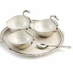 German Silver Duck Desine Set