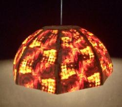 Wooden Hanging Lamp Semi Spherical