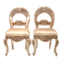 Silver Inlaid Chairs