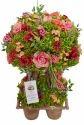 Artificial Mix Rose Decorative Bonsai With Planter