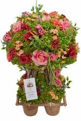 Multicolor Artificial Mix Rose Decorative Bonsai With Planter