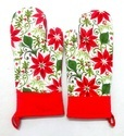 Red Flower Kitchen Glove