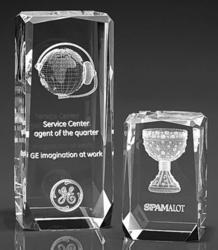 Fancy 3D Crystal Corporate Award