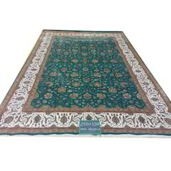 Printed Rectangular Hand Knotted Kashan Carpet, for Hotel