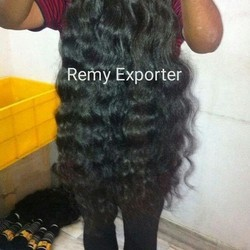 Remy unprocessed weft curly hair extensions