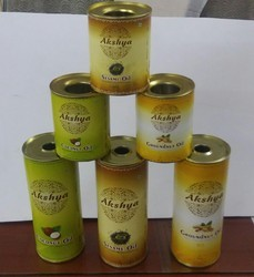 Cylindrical Cooking Oil Tin Box for Packaging, Capacity: 250 Ml And 500 Ml