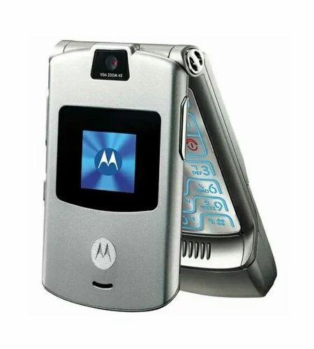 Motorola Moto Razr V3i BLACK Flip Phone
