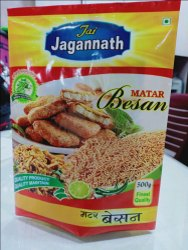 3 Layer Laminated Matar Besan Packaging Pouch