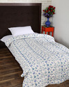 Cotton White Printed Soft Sofa Quilt
