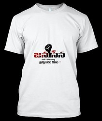 Polyester Janasena T Shirt Printing