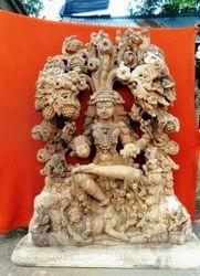 Wooden Statue Of Lord Dakshinamurthy 6 Feet