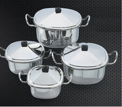 Four Square Stainless Steel Buffet Set