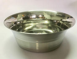 Silver Round Stainless Steel Fancy Bowl, For Home