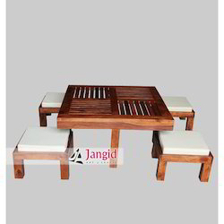 Jangid艺术品印度自助餐厅家具,尺寸:90x90x45 CMS
