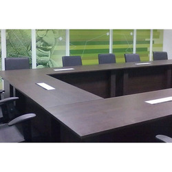 U Shaped Wooden Conference Table