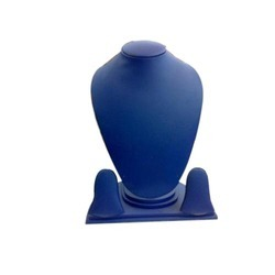 Blue Velvet Necklace Display Stand
