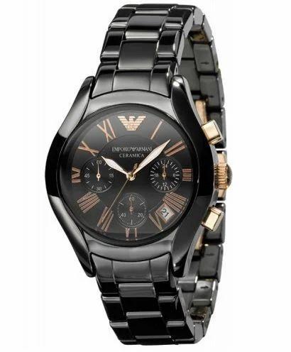 568ce1b55c2983 Emporio Ceramic Black Womens Chronograph Wrist Watch, Armani Watches ...
