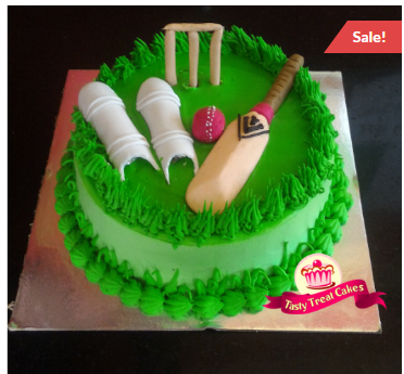 Cricket Fondant Cake At Rs 1445 Pack