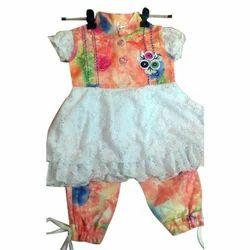 Multicolor Female Kids Designer Cotton Dress