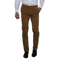 Brown Cotton Trouser