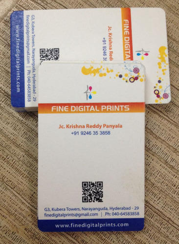 Multicolor Thick Business Card Rounded Size 35 X 2 Rs 65
