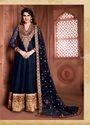 Black,banglori Silk Long Floor Length Anarkali Suit