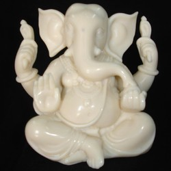 Ganesha Sitting In Resin Statue