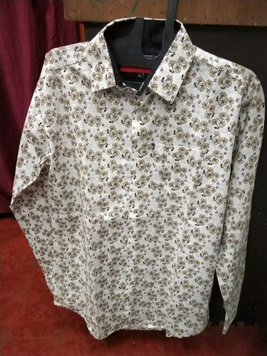 Collar Neck Men''s Printed Shirt