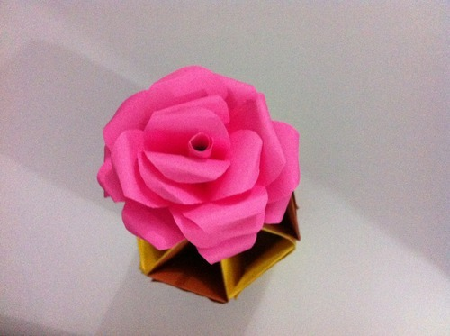 Eco Friendly Handmade Pink Paper Flowers