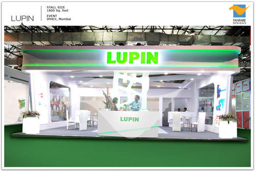 Stall Layout For Exhibition : Lupin pharma exhibition stall designing in andheri west mumbai