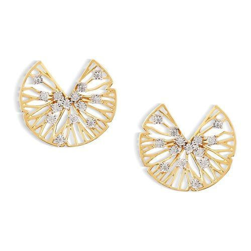 p stud yellow round studs earrings gold diamond