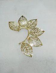 Golden Leaf Earrings With Dainty Look