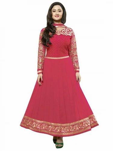 Anarkali dress in pink color